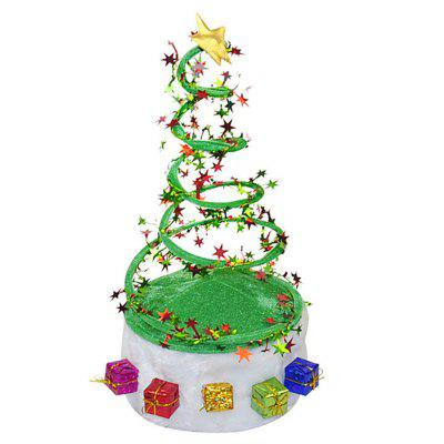 Novelty Christmas Tree Coil Spring Hat