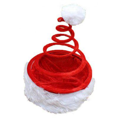 Novelty Christmas Red Coil Spring Hat