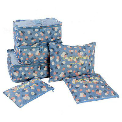 Oxford Cloth Clothes Packing Cube Travel Storage Bags 6pcs