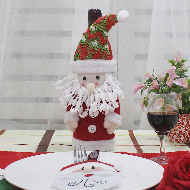 Christmas Wine Bottle Decoration Cloth 1pc