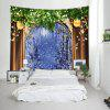 Wall Hanging Art Christmas Tree Window Print Tapestry - COLORMIX