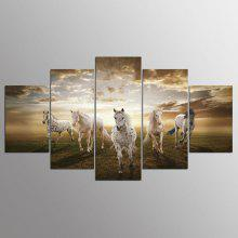 YSDAFEN Canvas Grassland Prints Hanging Wall Art 5PCS