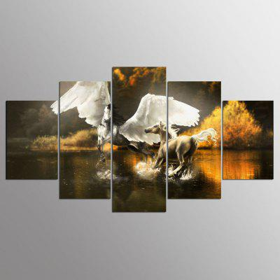 Buy COLORMIX YSDAFEN Canvas Horses Prints Hanging Wall Art 5PCS for $55.37 in GearBest store