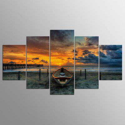 YSDAFEN Canvas Seascape Prints Hanging Wall Art 5PCS