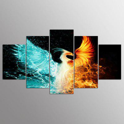 Buy COLORMIX YSDAFEN Canvas Phoenix Prints Hanging Wall Art 5PCS for $55.37 in GearBest store
