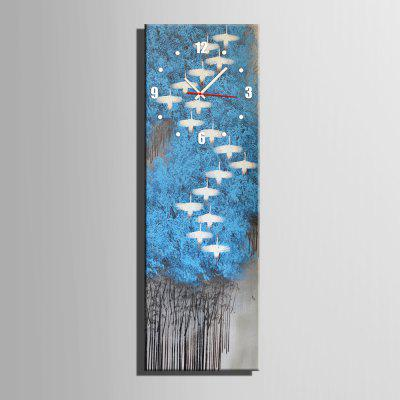 Decorative Wall Clock Canvas Painting Hanging Artwork