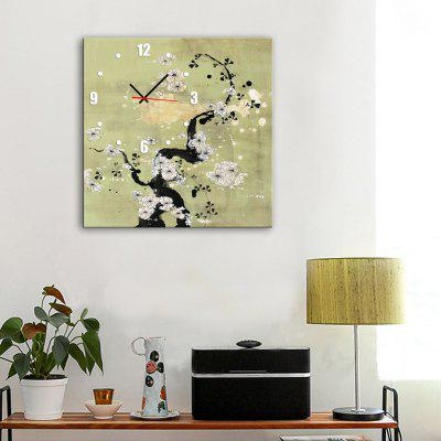 Decorative Wall Clock Canvas Painting Square Hanging Art