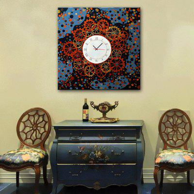 Decorative Wall Clock Canvas Painting Gears Hanging Art