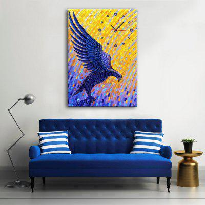 Decorative Wall Clock Canvas Painting Eagle Hanging Artwork