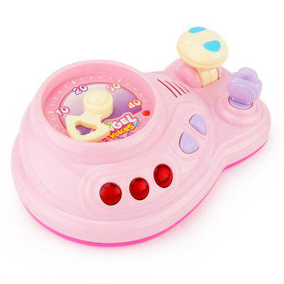 Cartoon Car Console Toy with Light Music for Children