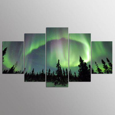 Buy COLORMIX YSDAFEN Canvas Night Sky Prints Hanging Wall Art 5PCS for $55.37 in GearBest store
