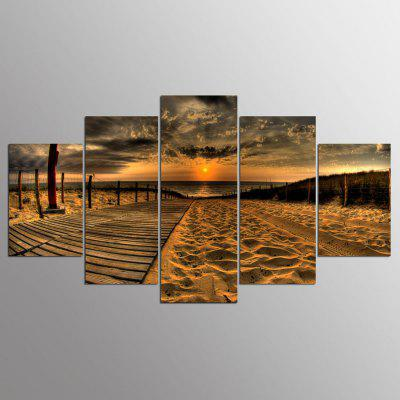 Buy YSDAFEN Framed Beach Road Prints Hanging Wall Art 5PCS, COLORMIX, Home & Garden, Home Decors, Wall Art, Prints for $40.29 in GearBest store