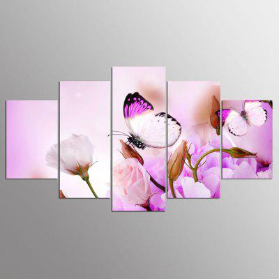Buy COLORMIX YSDAFEN Canvas Roses Prints Hanging Wall Art 5PCS for $55.37 in GearBest store