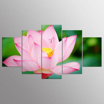 Buy COLORMIX YSDAFEN Canvas Lotus Prints Hanging Wall Art 5PCS for $55.37 in GearBest store