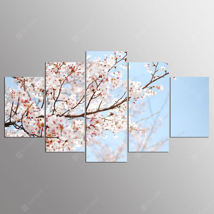 YSDAFEN Canvas Plum Blossom Prints Hanging Wall Art 5PCS