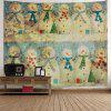 Vintage Christmas Snowman Print Wall Art Tapestry - COLORMIX
