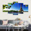 YSDAFEN Canvas Tower Prints Hanging Wall Art 5PCS - COLORMIX
