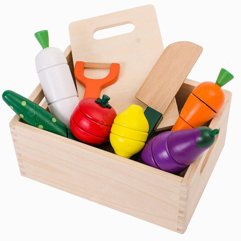Safety Wooden Qieqie Kitchen Fruit Play House Toy 1 Set