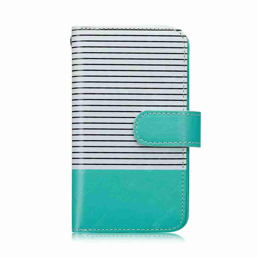 Stripe Detachable Wallet Folio Case with 9 Cards Holder for iPhone