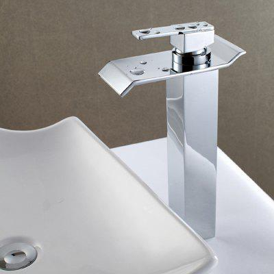 Buy CHROME MLFALLS M1229CW H Waterfall Bathroom Basin Sink Faucet for $106.98 in GearBest store