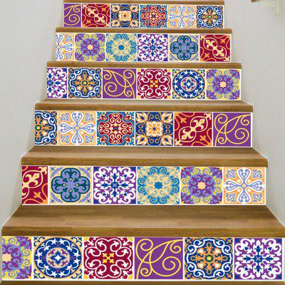 DSU LT018 PVC Stair Stickers Arabian Style Mural Decals