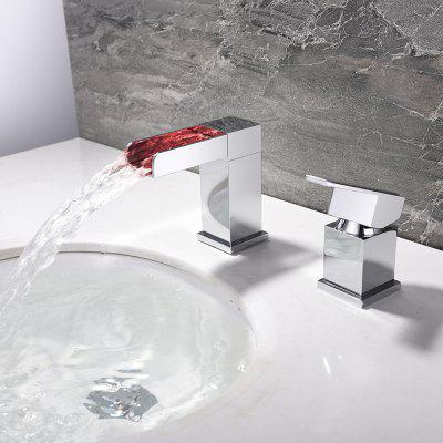 MLFALLS LED Single Handle Waterfall Basin Sink FaucetFaucets<br>MLFALLS LED Single Handle Waterfall Basin Sink Faucet<br><br>Battery Included: No<br>Body Sprays Included: No<br>Brand: MLFALLS<br>Cold and Hot Switch: Yes<br>Drain Included: No<br>Faucet Body Material: Brass<br>Faucet center: Single Hole<br>Faucet Features: LED indicator,Waterfall<br>Faucet Spout Material: Stainless Steel<br>Faucet Type: Bathroom Sink Faucet<br>Handle Material: Zinc Alloy<br>Handshower Included: No<br>Handshower Material: Brass<br>Installation Holes Handles: Single Handle Two Holes<br>Package Contents: 1 x Pack of Stationary Fittings, 1 x English Manual<br>Package size (L x W x H): 29.50 x 22.50 x 7.50 cm / 11.61 x 8.86 x 2.95 inches<br>Package weight: 2.5000 kg<br>Product size (L x W x H): 10.20 x 4.20 x 11.40 cm / 4.02 x 1.65 x 4.49 inches<br>Product weight: 2.2000 kg<br>Rain Shower Included: No<br>Rain Shower Material: Brass<br>Shower Arm Included: No<br>Style: Contemporary<br>Valve Included: Yes<br>Valve Type: Ceramic Valve