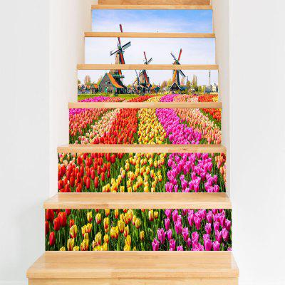 DSU LT028 PVC Stair Sticker Set Windmill Flowers Mural DecalWall Stickers<br>DSU LT028 PVC Stair Sticker Set Windmill Flowers Mural Decal<br><br>Brand: DSU<br>Function: Decorative Wall Sticker<br>Material: Vinyl(PVC)<br>Package Contents: 1 x Set of Stair Stickers<br>Package size (L x W x H): 20.00 x 3.40 x 3.40 cm / 7.87 x 1.34 x 1.34 inches<br>Package weight: 0.4000 kg<br>Product weight: 0.3600 kg<br>Quantity: 1 Set<br>Subjects: Flower<br>Suitable Space: Hallway,Hotel<br>Type: Plane Wall Sticker