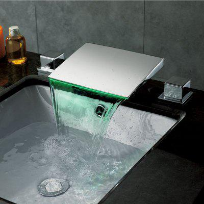 MLFALLS M1270CL LED Waterfall Bathroom Basin Faucet