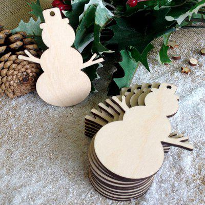 Wooden Snowman Christmas Tree Decorations 10pcs