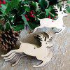 Wooden Deer Christmas Tree Decorations 10pcs - PALOMINO
