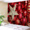 Christmas Ball Print Decorative Wall Hanging Tapestry - RED