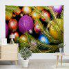 Wall Hanging Colorful Christmas Balls Print Tapestry - COLORFUL