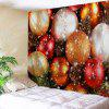 Wall Hanging Christmas Balls Print Decorative Tapestry - COLORMIX