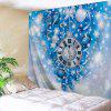 Christmas Clock Ball Print Wall Decor Tapestry - ICE BLUE