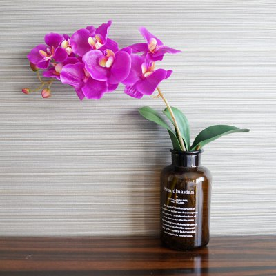 LmDec 17HDL01 Artificial Phalaenopsis Flower for Decoration 1pc