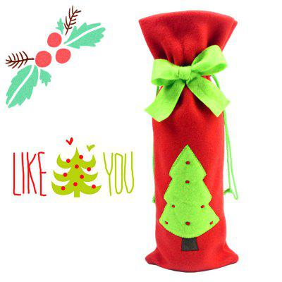 Macroart Reusable Christmas Tree Pattern Wine Bag