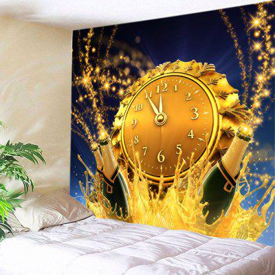 Wall Hanging Art Christmas Clock Beer Print Tapestry