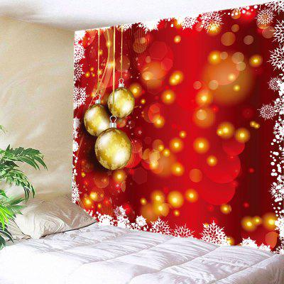 Wall Hanging Art Christmas Baubles Dot Print Tapestry