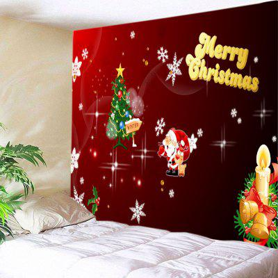 Wall Hanging Art Christmas Tree Letter Print Tapestry