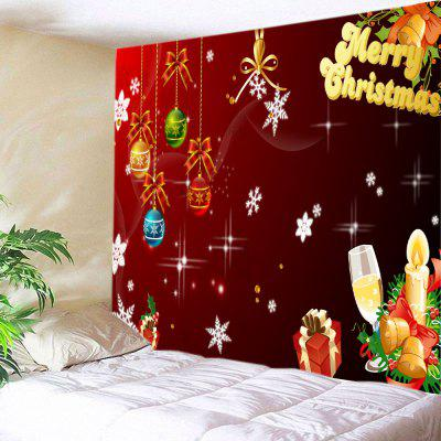 Wall Hanging Art Christmas Baubles Letters Print Tapestry
