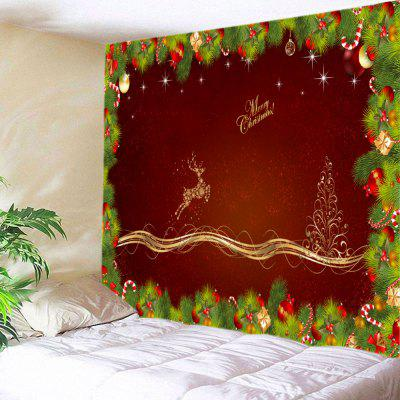 Buy Wall Hanging Art Christmas Pine Deer Print Tapestry, DEEP RED, Home & Garden, Home Textile, Bedding, Blankets & Throws for $15.00 in GearBest store