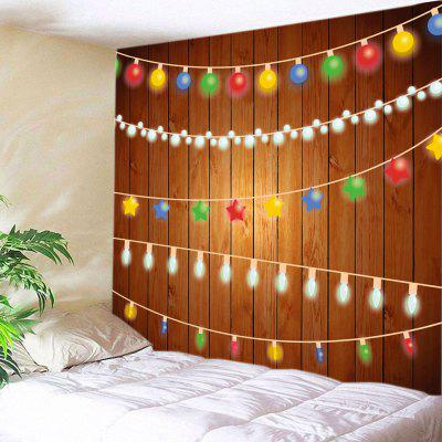 Wall Hanging Decor Christmas String Lights Print Tapestry
