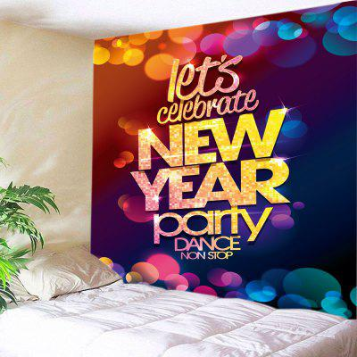 Buy Wall Hanging Art New Year Party Print Tapestry, COLORMIX, Home & Garden, Home Textile, Bedding, Blankets & Throws for $15.00 in GearBest store