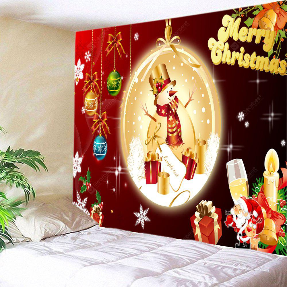 Wall Hanging Art Christmas Baubles Snowman Print Tapestry