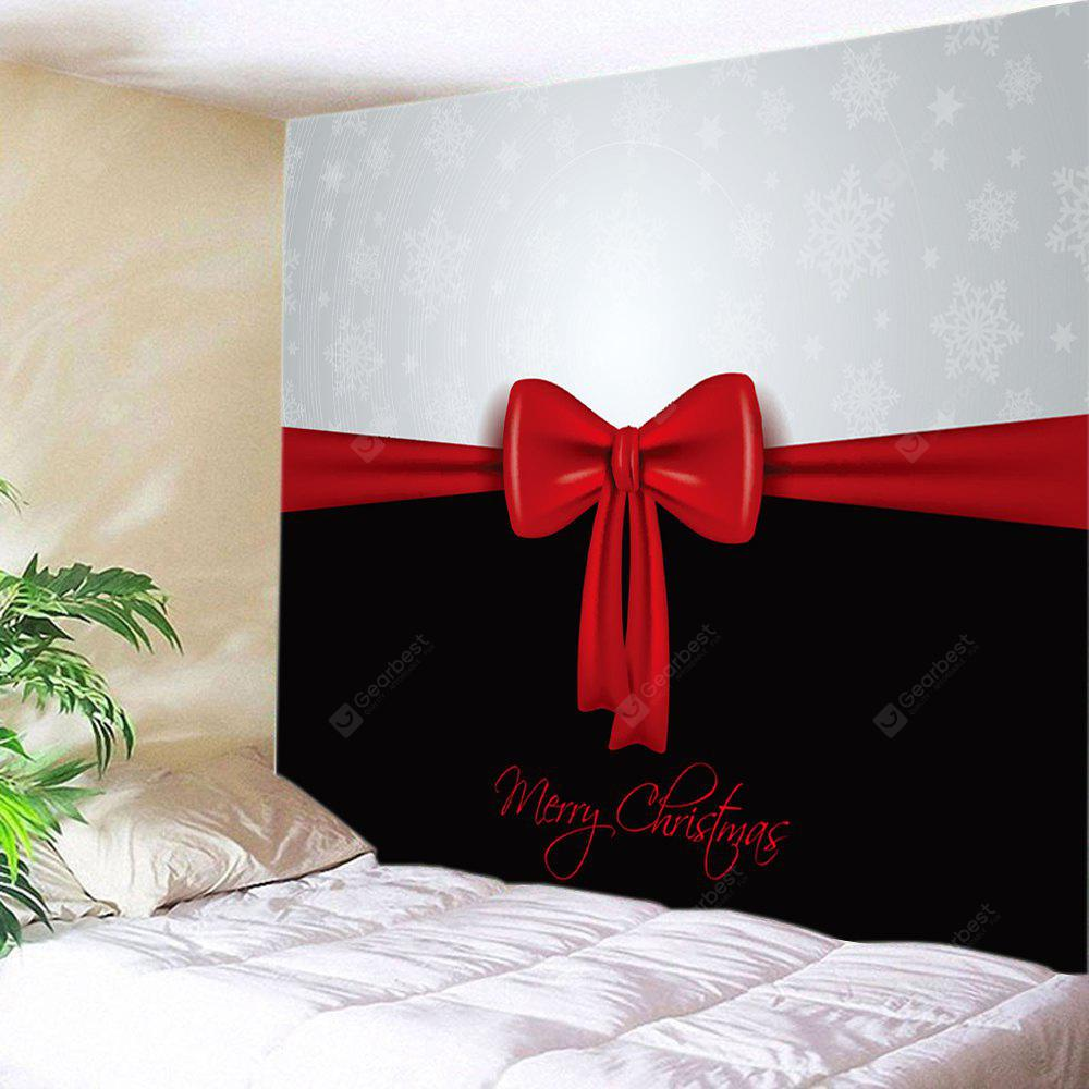 Wall Hanging Art Merry Christmas Bowknot Print Tapestry