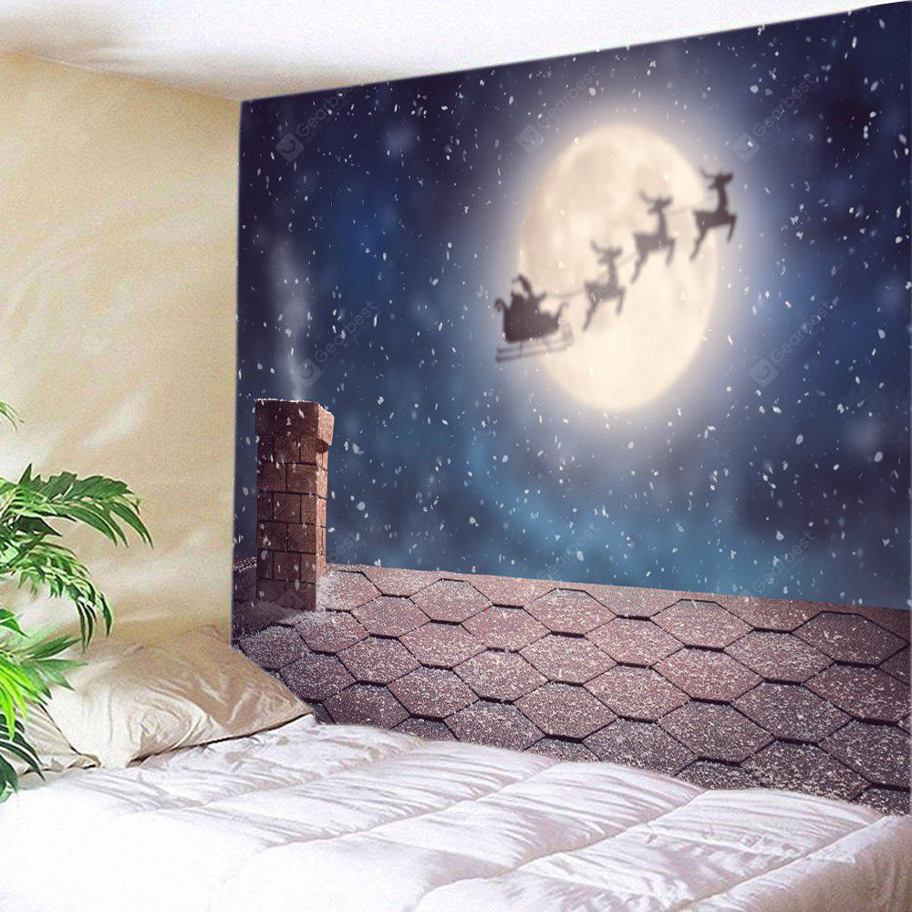 Wall Hanging Art Christmas Night Roof Print Tapestry