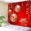 Wall Hanging Art Christmas Baubles Ribbon Print Tapestry - RED