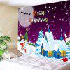 Wall Hanging Art Christmas Moon Night Village Print Tapestry - COLORMIX