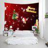 Wall Hanging Art Christmas Tree Letter Print Tapestry - COLORMIX