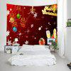 Wall Hanging Art Christmas Baubles Letters Print Tapestry - COLORMIX
